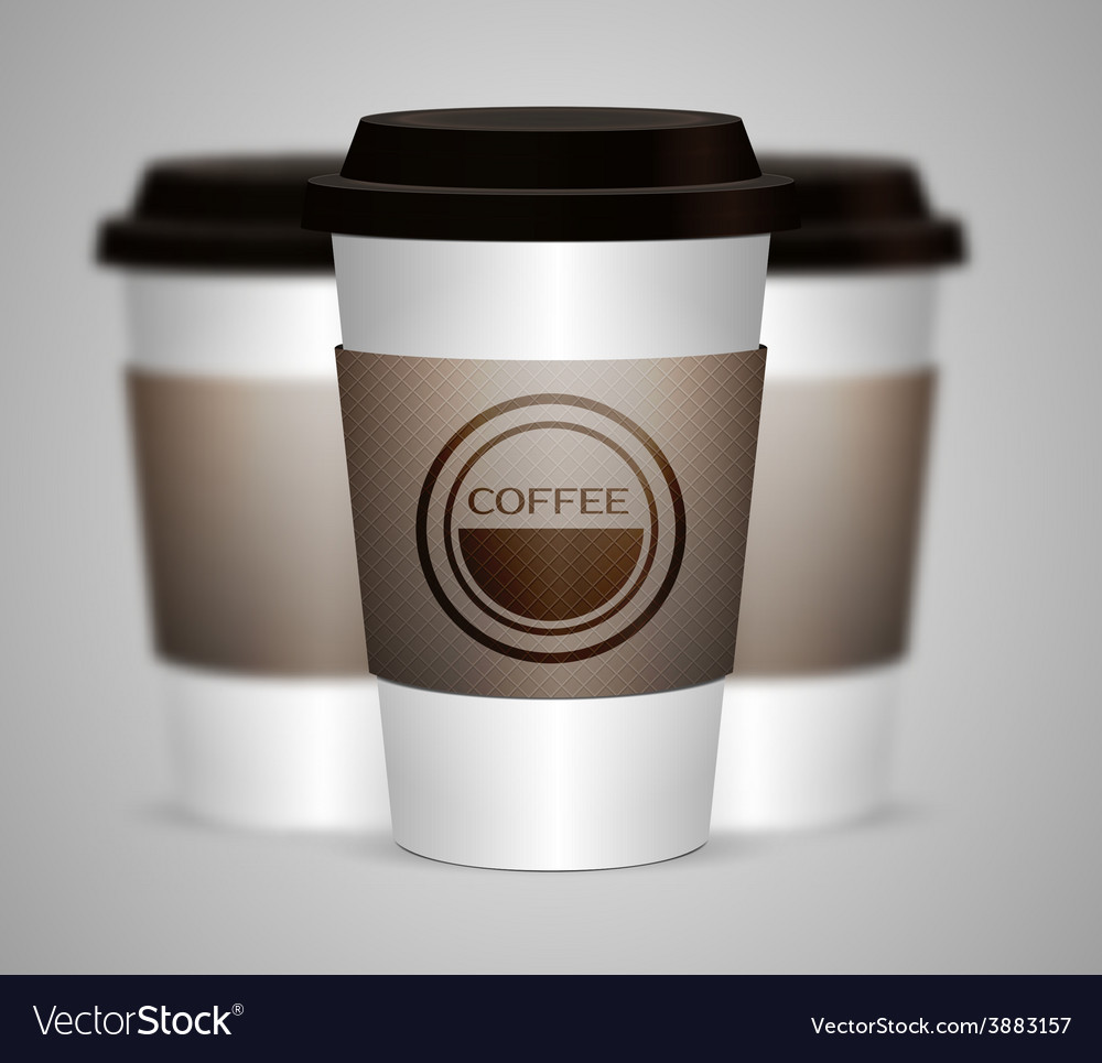 Disposable coffee cup isolated vector | Price: 1 Credit (USD $1)
