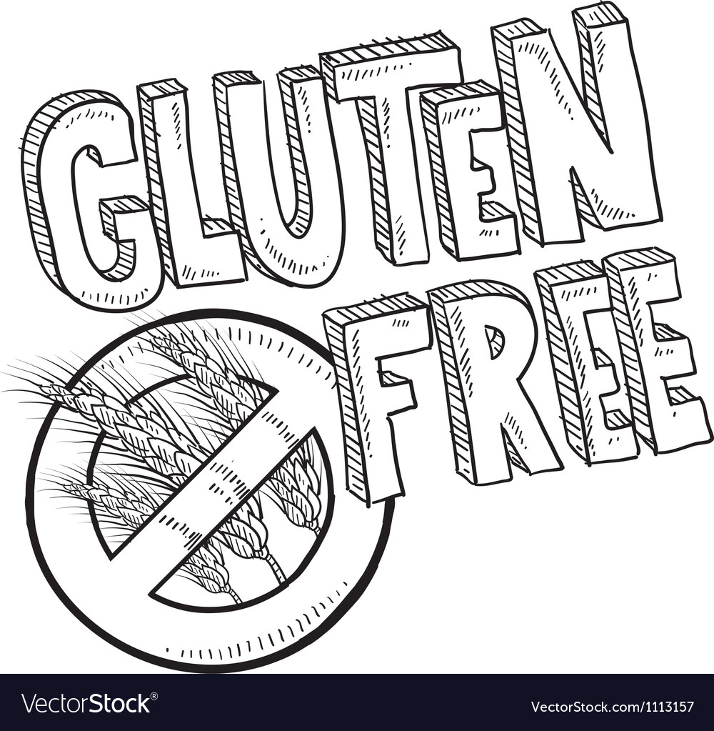 Doodle gluten free vector | Price: 1 Credit (USD $1)
