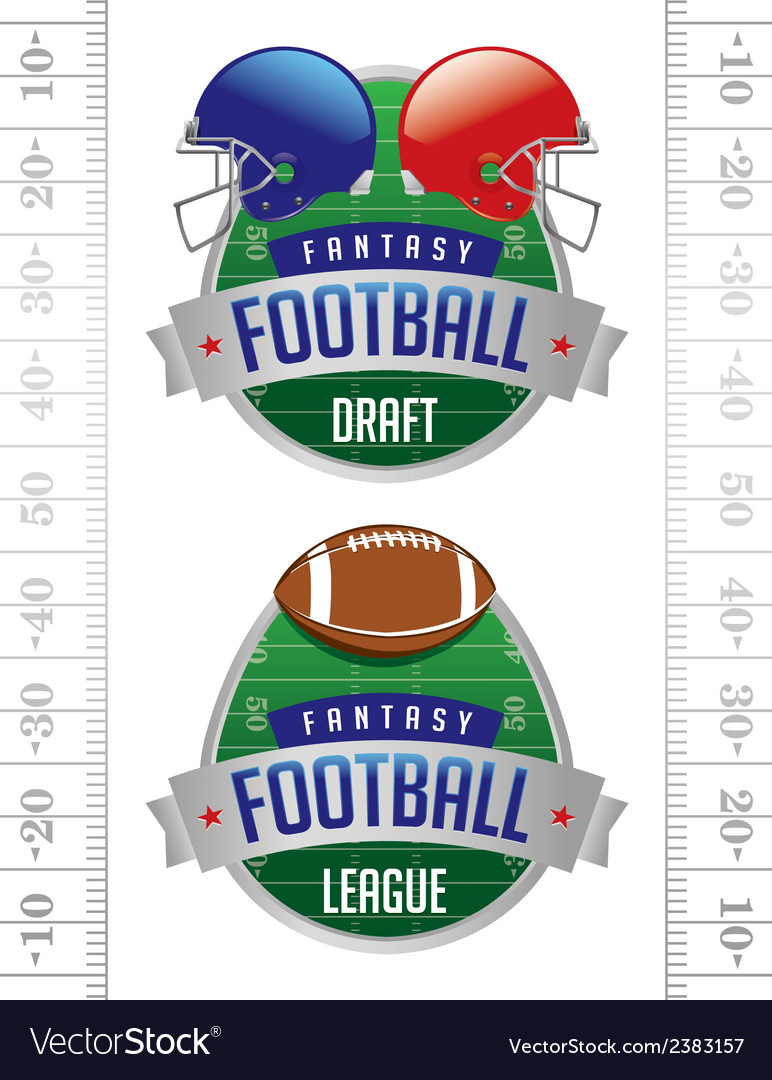 Fantasy football american football emblems vector | Price: 1 Credit (USD $1)