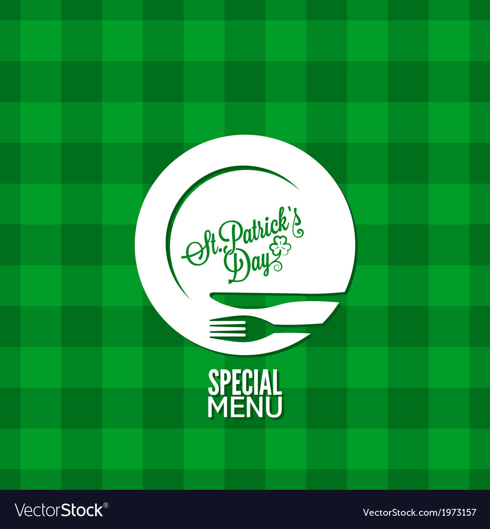 Patrick day party holiday menu design background vector | Price: 1 Credit (USD $1)