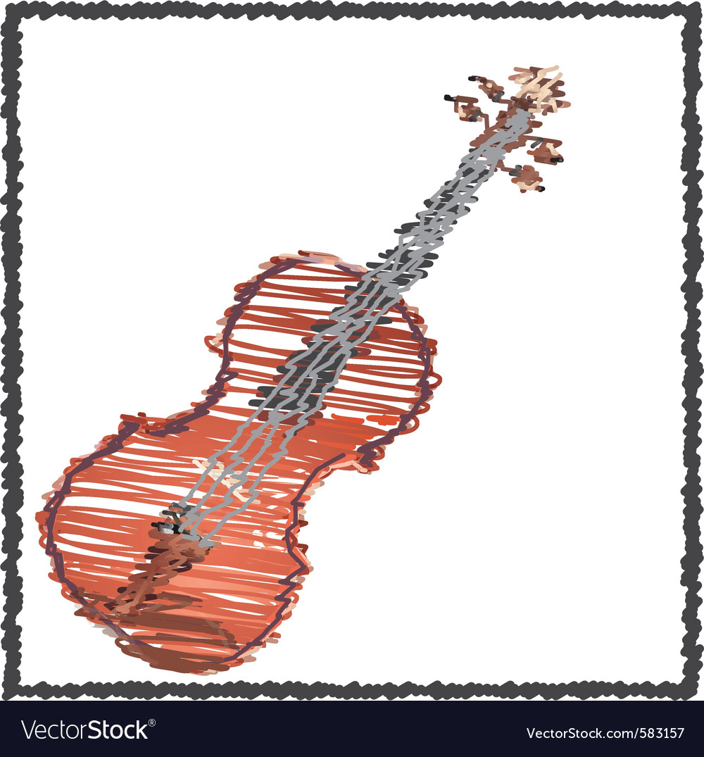 Scribble violin vector | Price: 1 Credit (USD $1)