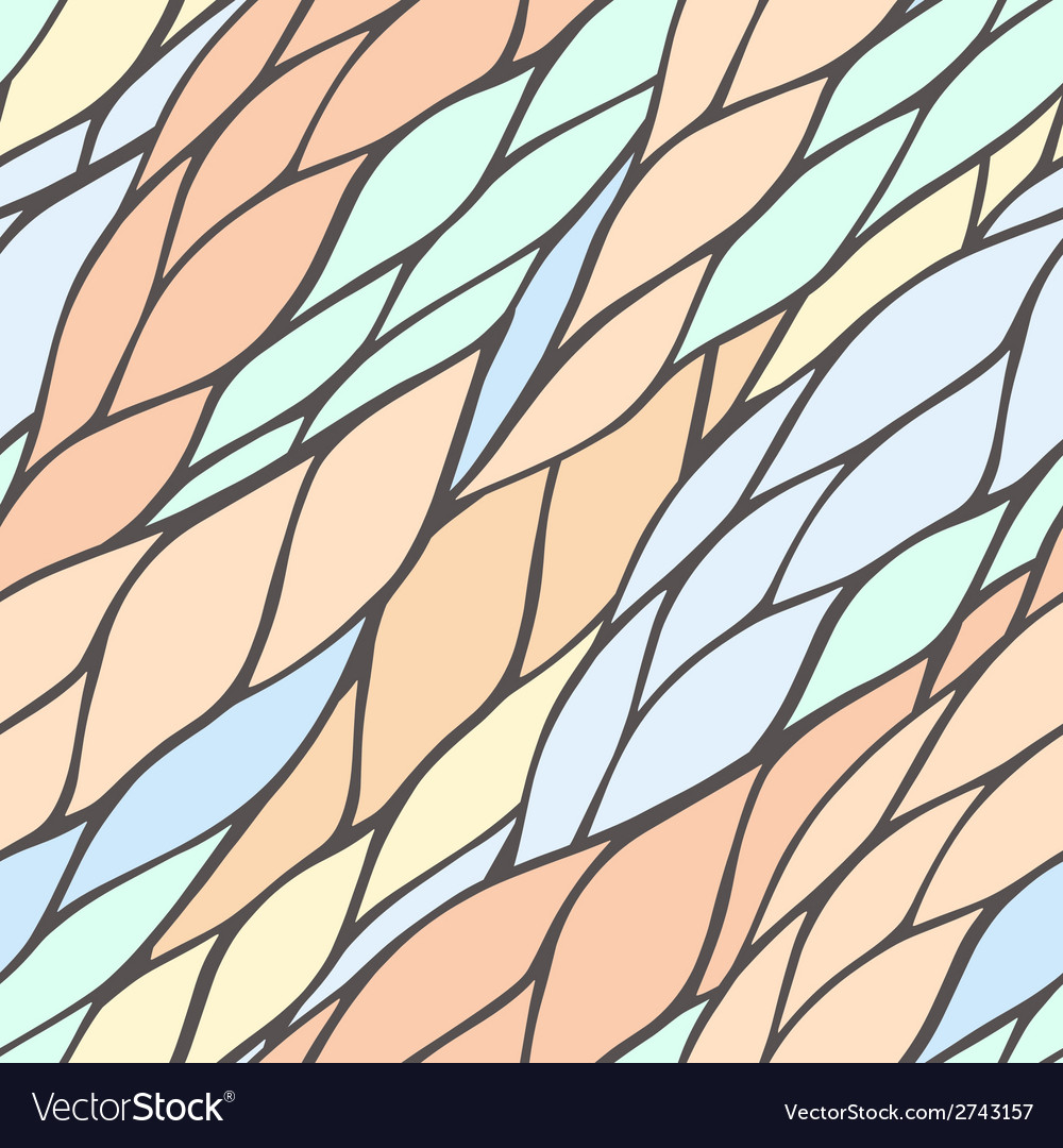 Seamless pattern with colorful hand drawn abstract vector | Price: 1 Credit (USD $1)