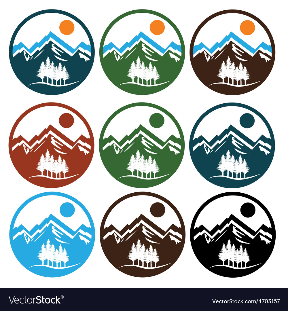 Set of wildlife emblems vector | Price: 1 Credit (USD $1)