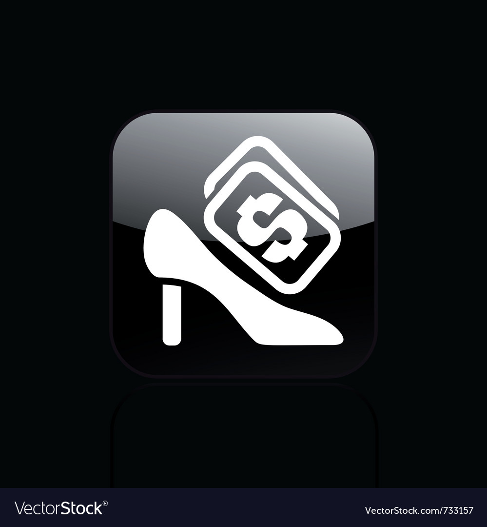 Shoe price icon vector | Price: 1 Credit (USD $1)