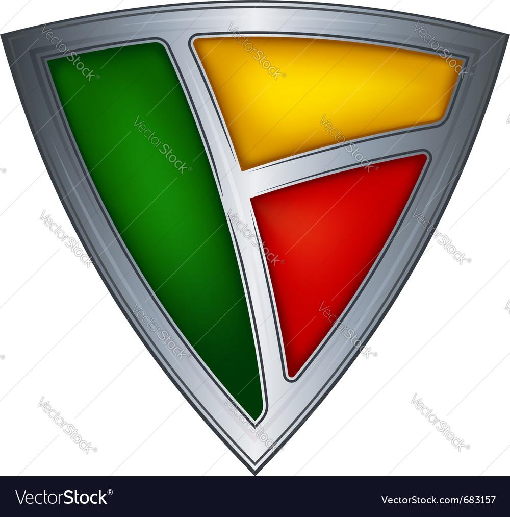 Steel shield benin vector | Price: 1 Credit (USD $1)