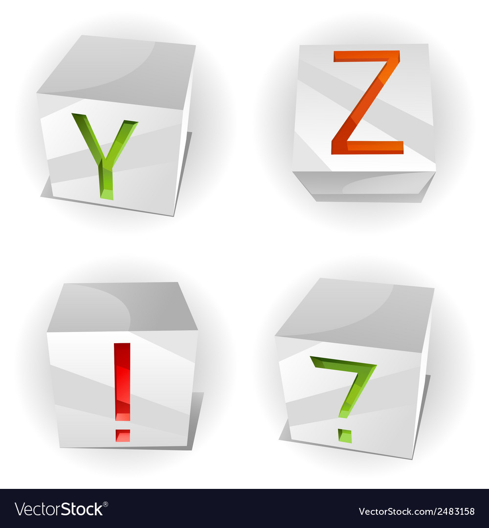 Cube alphabet letters abcd vector | Price: 1 Credit (USD $1)
