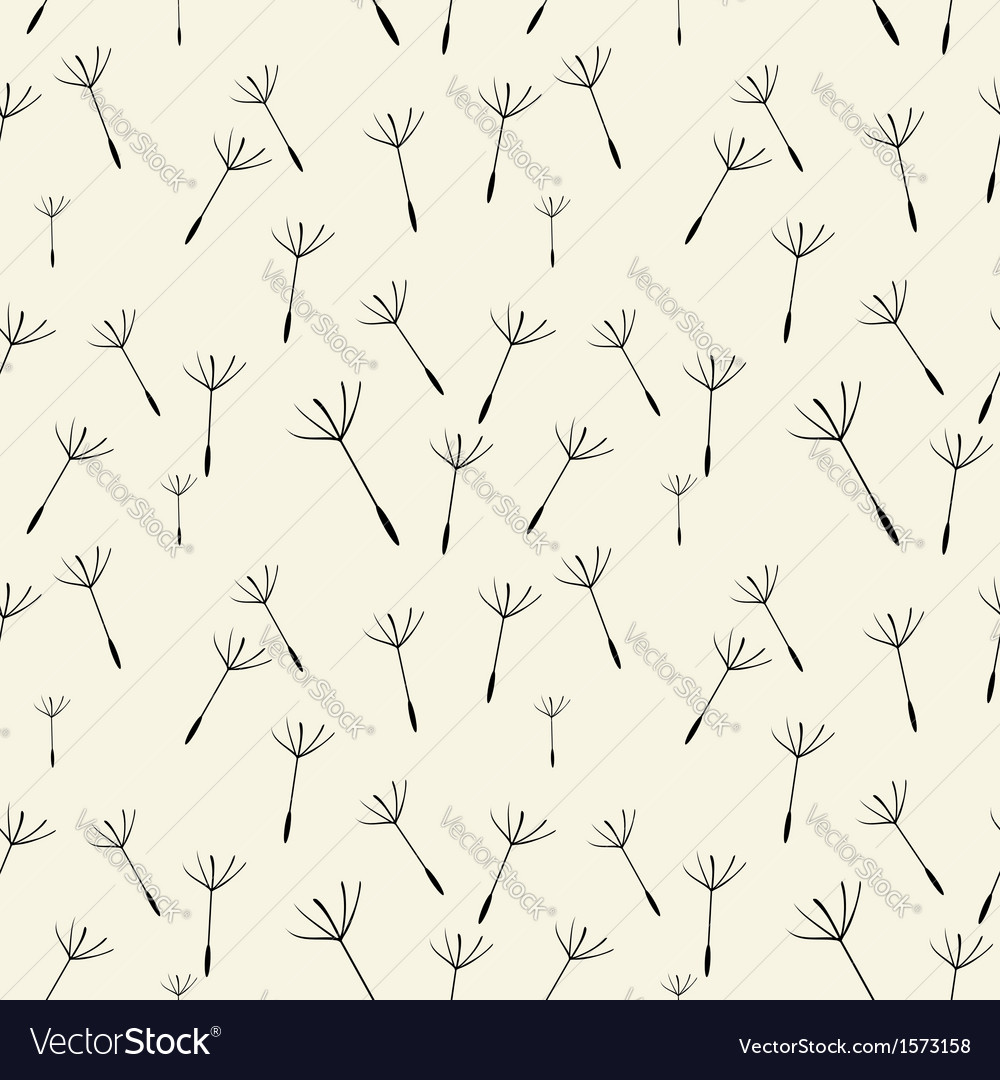 Dandelion fluff pattern vector | Price: 1 Credit (USD $1)