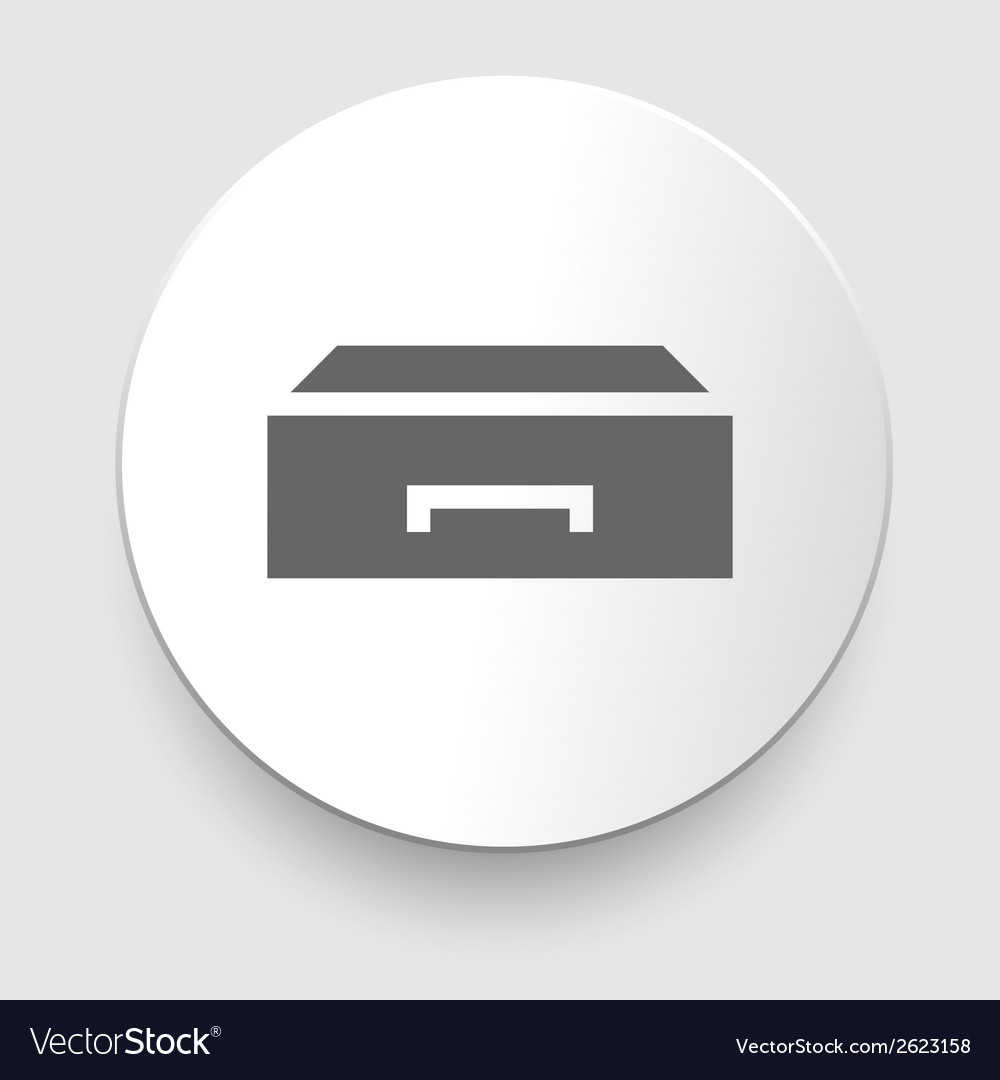 Flat style - drawer icon vector | Price: 1 Credit (USD $1)