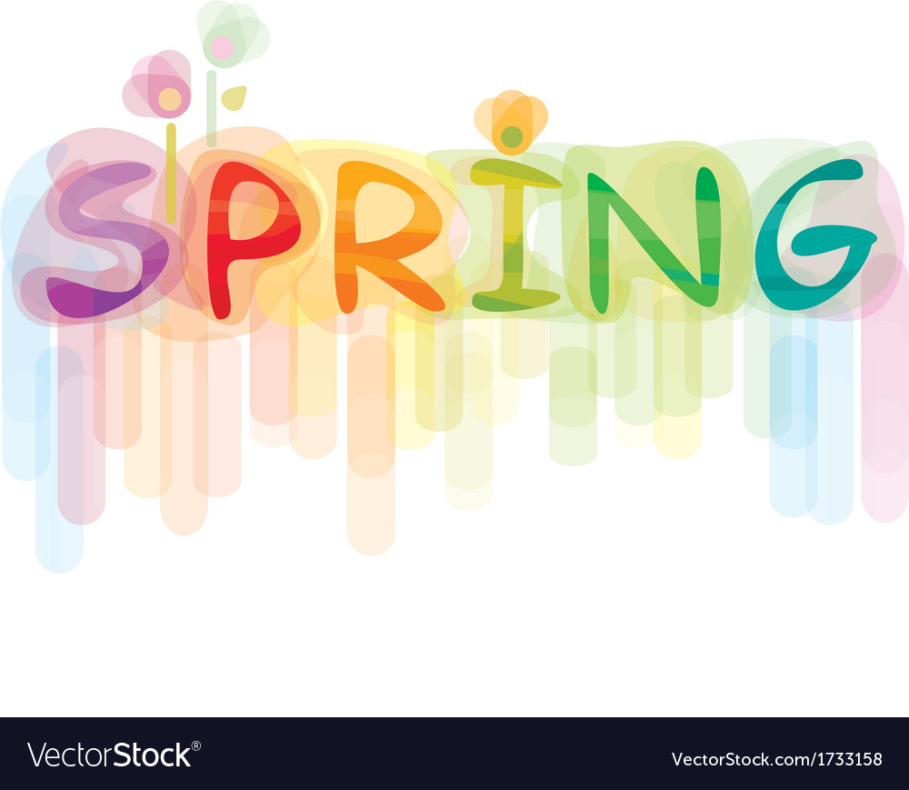 Font spring vector | Price: 1 Credit (USD $1)