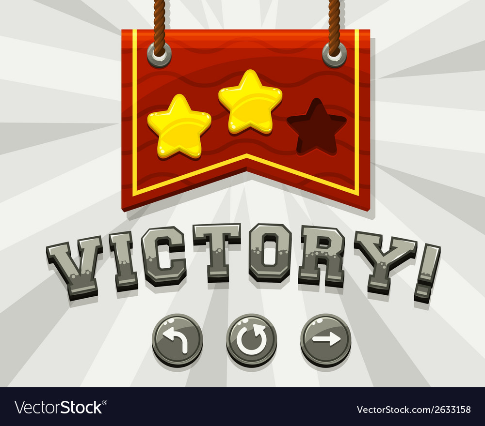 Game victory screen vector | Price: 1 Credit (USD $1)