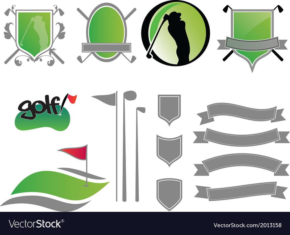 Golf logos vector   Price: 1 Credit (USD $1)