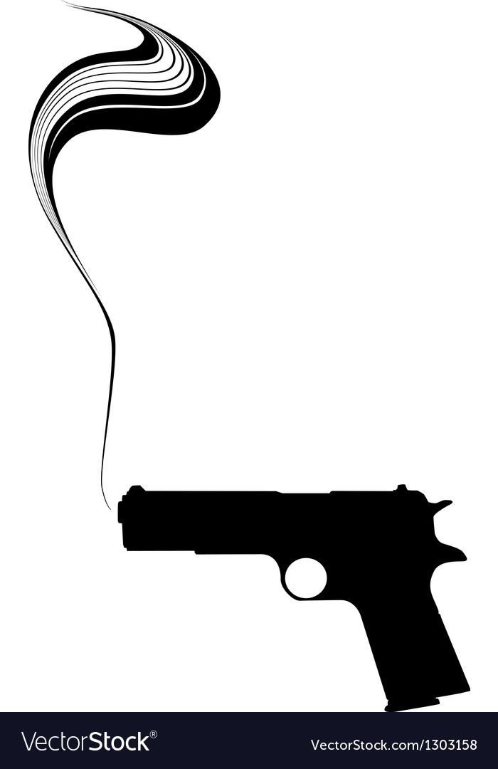 Graphic smoking gun vector | Price: 1 Credit (USD $1)