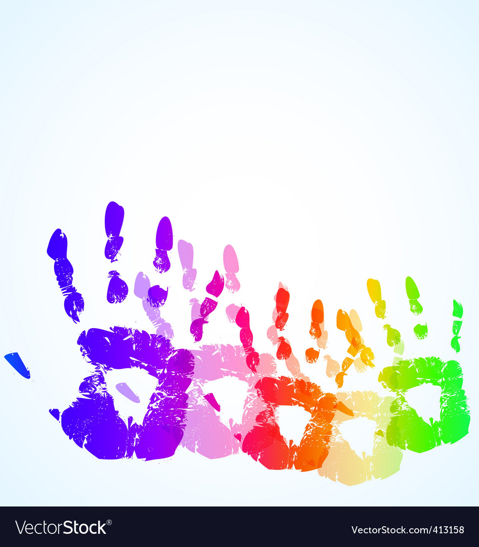 Hand print vector | Price: 1 Credit (USD $1)