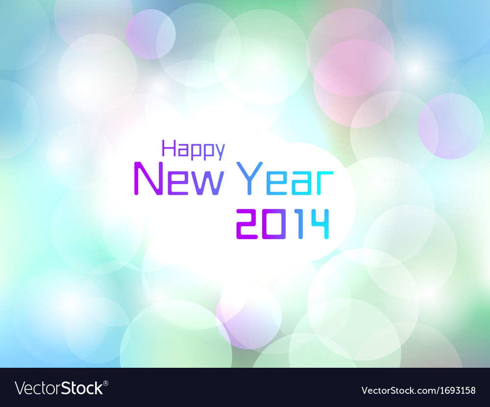 Happy new year colorful flare light background vector | Price: 1 Credit (USD $1)
