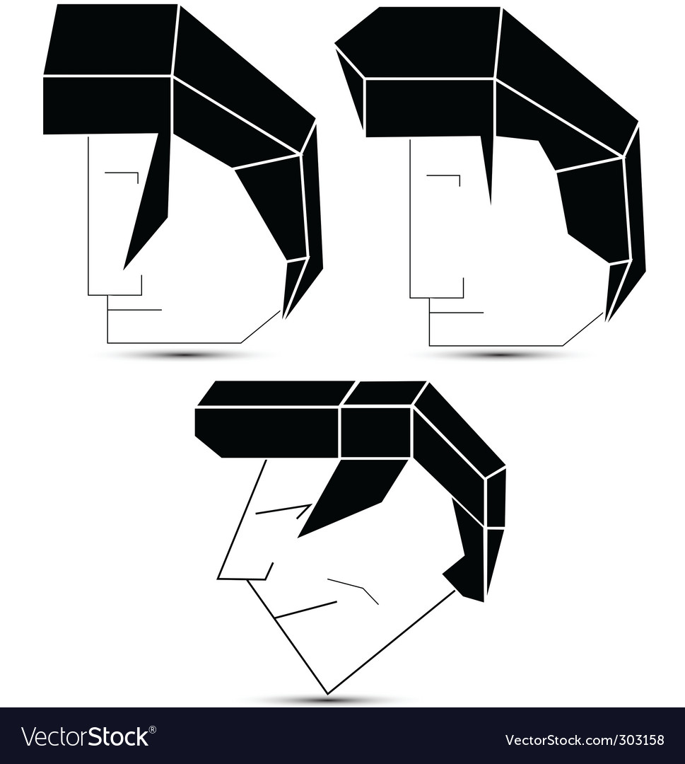 Heads vector | Price: 1 Credit (USD $1)
