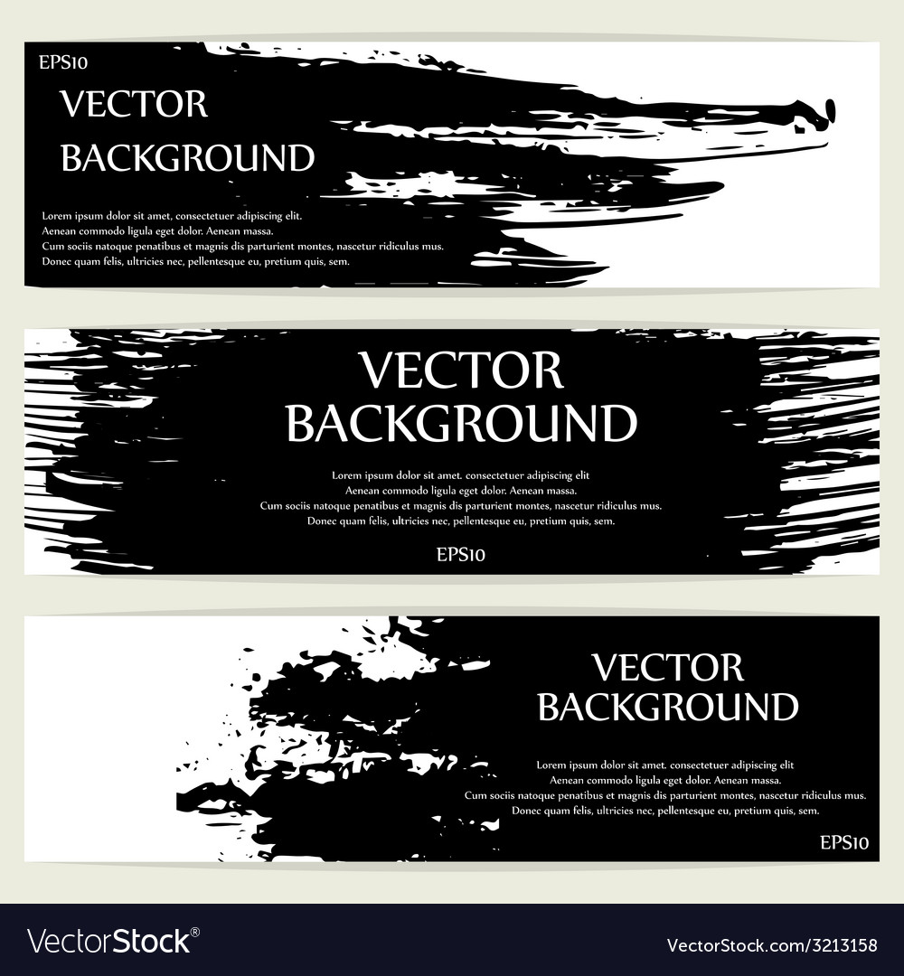 Three grunge banners vector | Price: 1 Credit (USD $1)