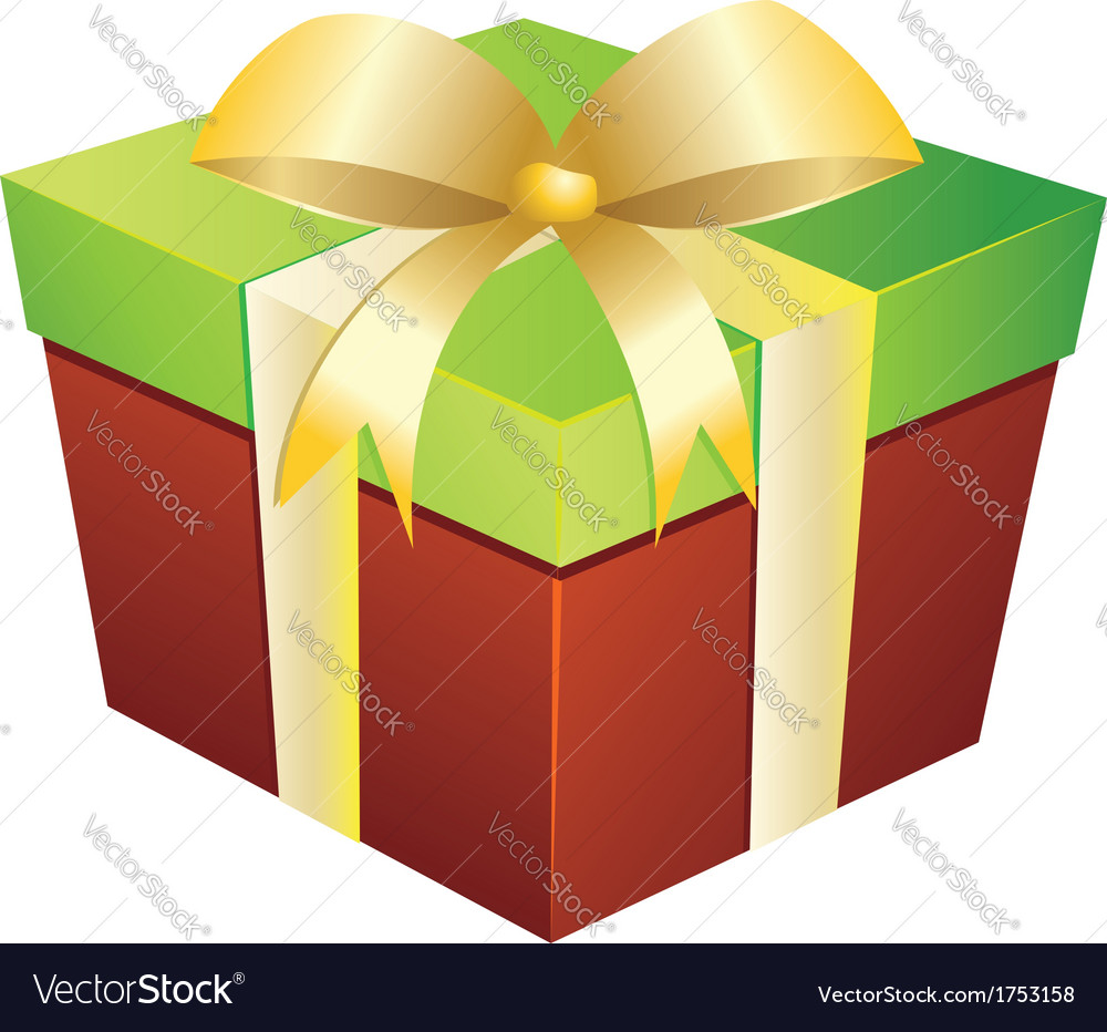 Two colored gift box vector | Price: 1 Credit (USD $1)
