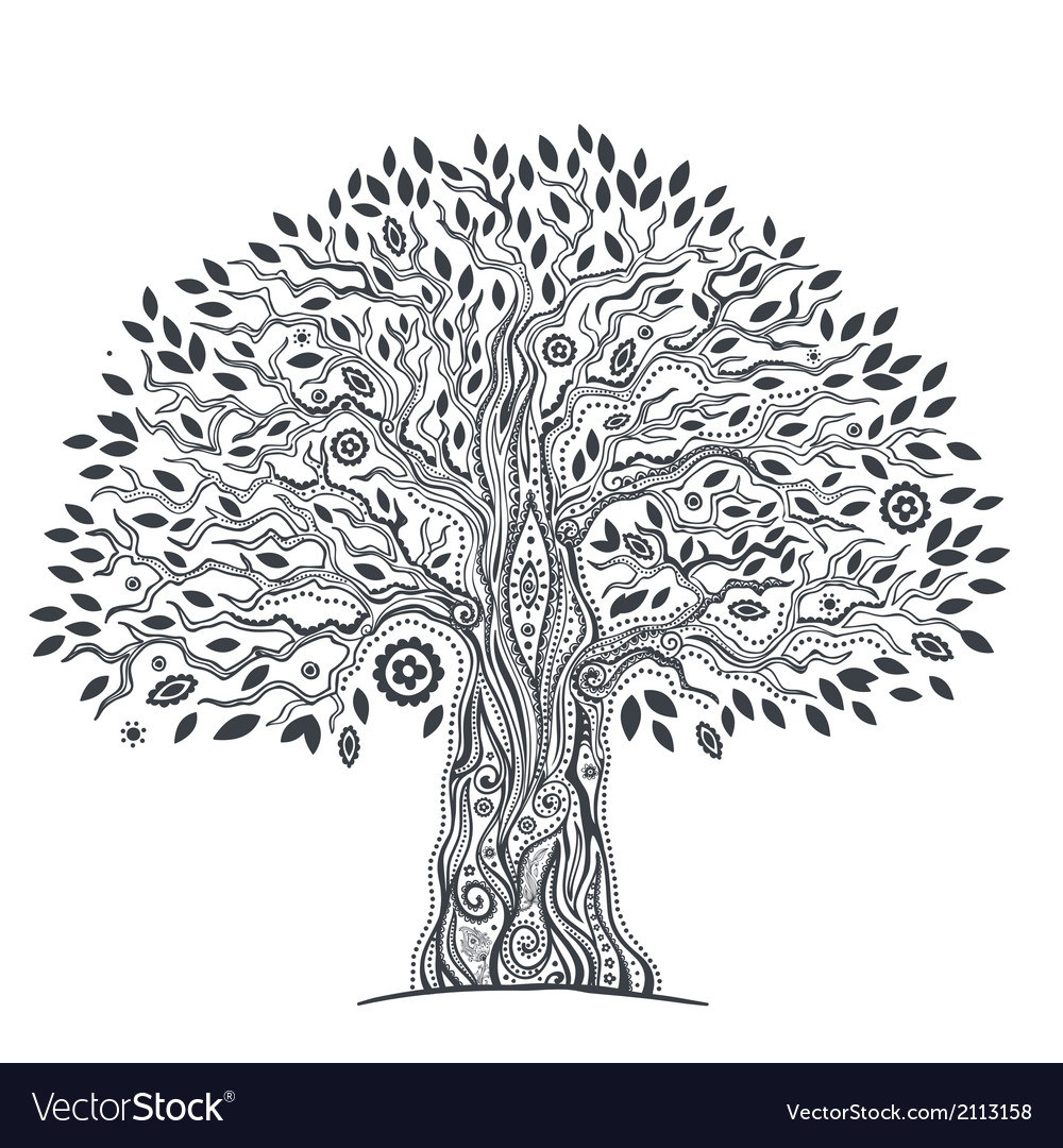 Unique ethnic tree of life vector | Price: 1 Credit (USD $1)