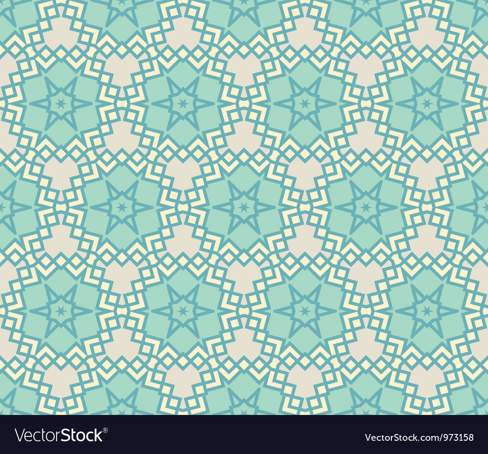 Vintage wallpaper pattern seamless background vector   Price: 1 Credit (USD $1)