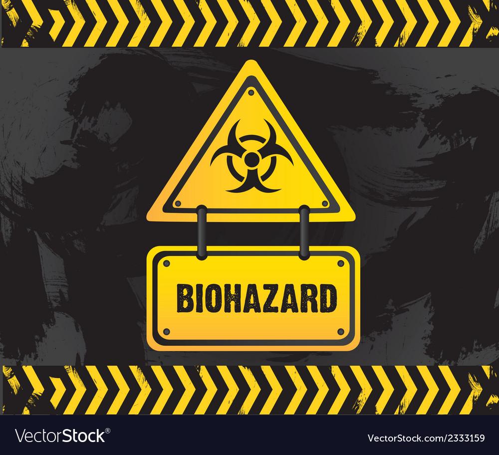 Biohazard sign on grunge background vector | Price: 1 Credit (USD $1)