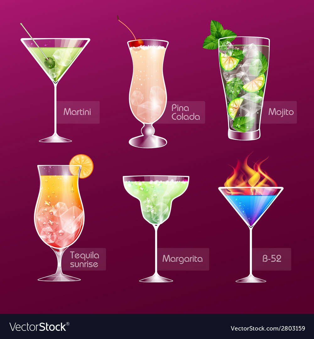 Cocktail menu vector | Price: 1 Credit (USD $1)
