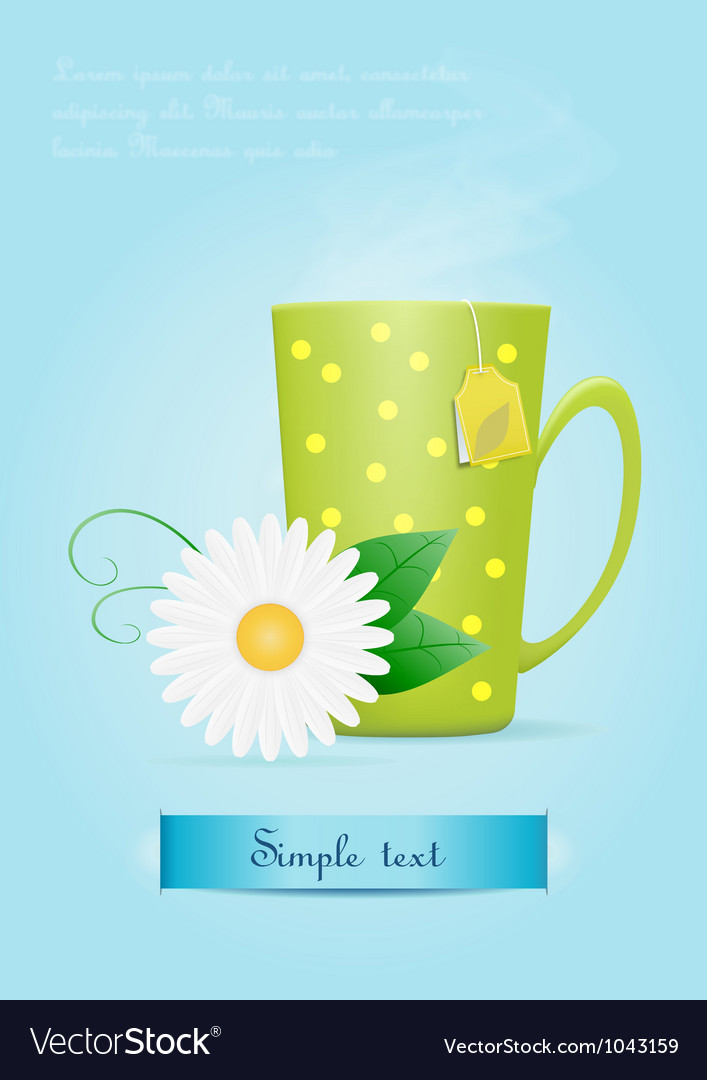 Cup of tea with chamomile flower vector | Price: 1 Credit (USD $1)