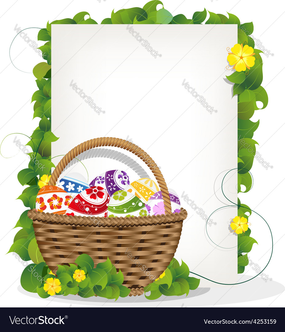 Easter gift basket vector | Price: 3 Credit (USD $3)