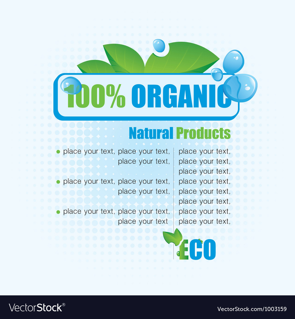 Ecological banner vector | Price: 1 Credit (USD $1)