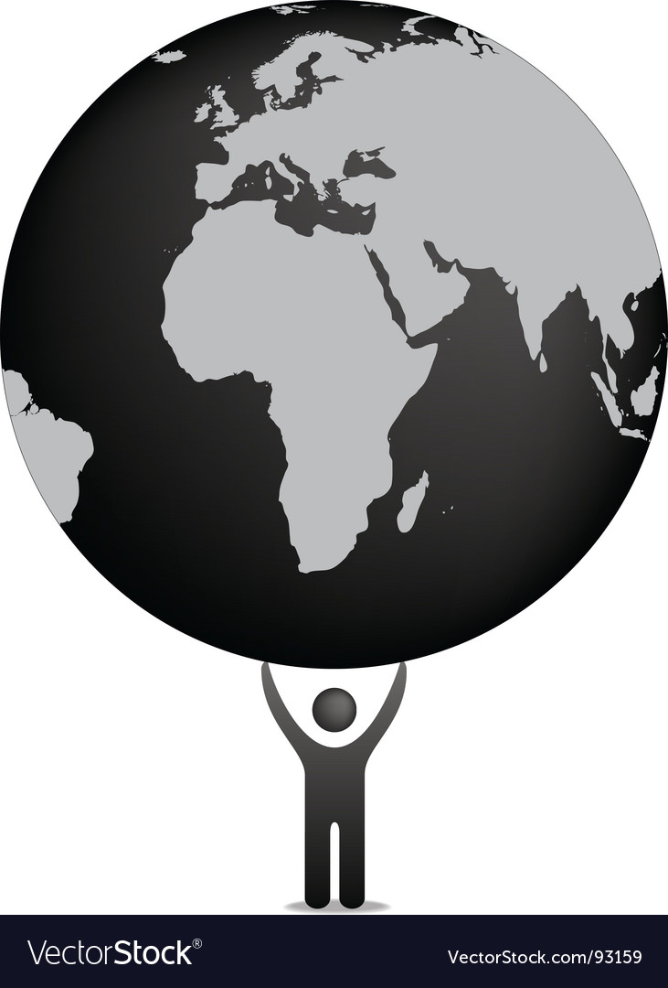 Globe and icon figure vector | Price: 1 Credit (USD $1)