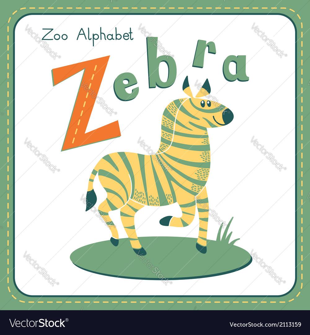Letter z - zebra vector   Price: 1 Credit (USD $1)