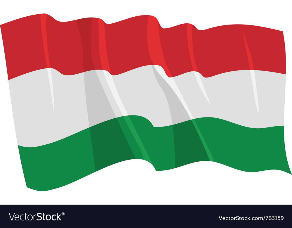 Political waving flag of hungary vector | Price: 1 Credit (USD $1)