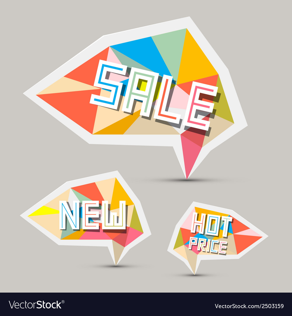 Sale paper retro labels set vector | Price: 1 Credit (USD $1)
