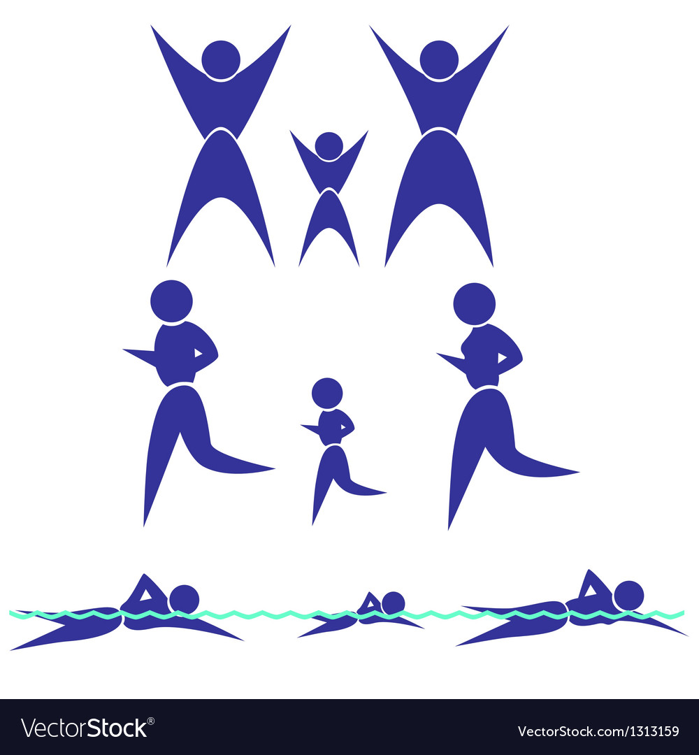 Silhouette of the family vector | Price: 1 Credit (USD $1)