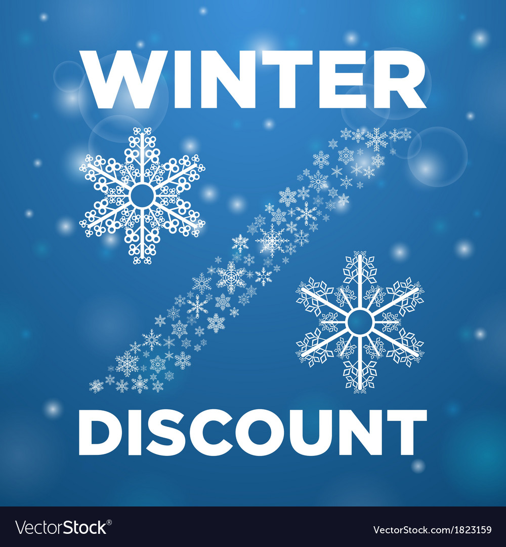 Winter discount and snow lane vector | Price: 1 Credit (USD $1)
