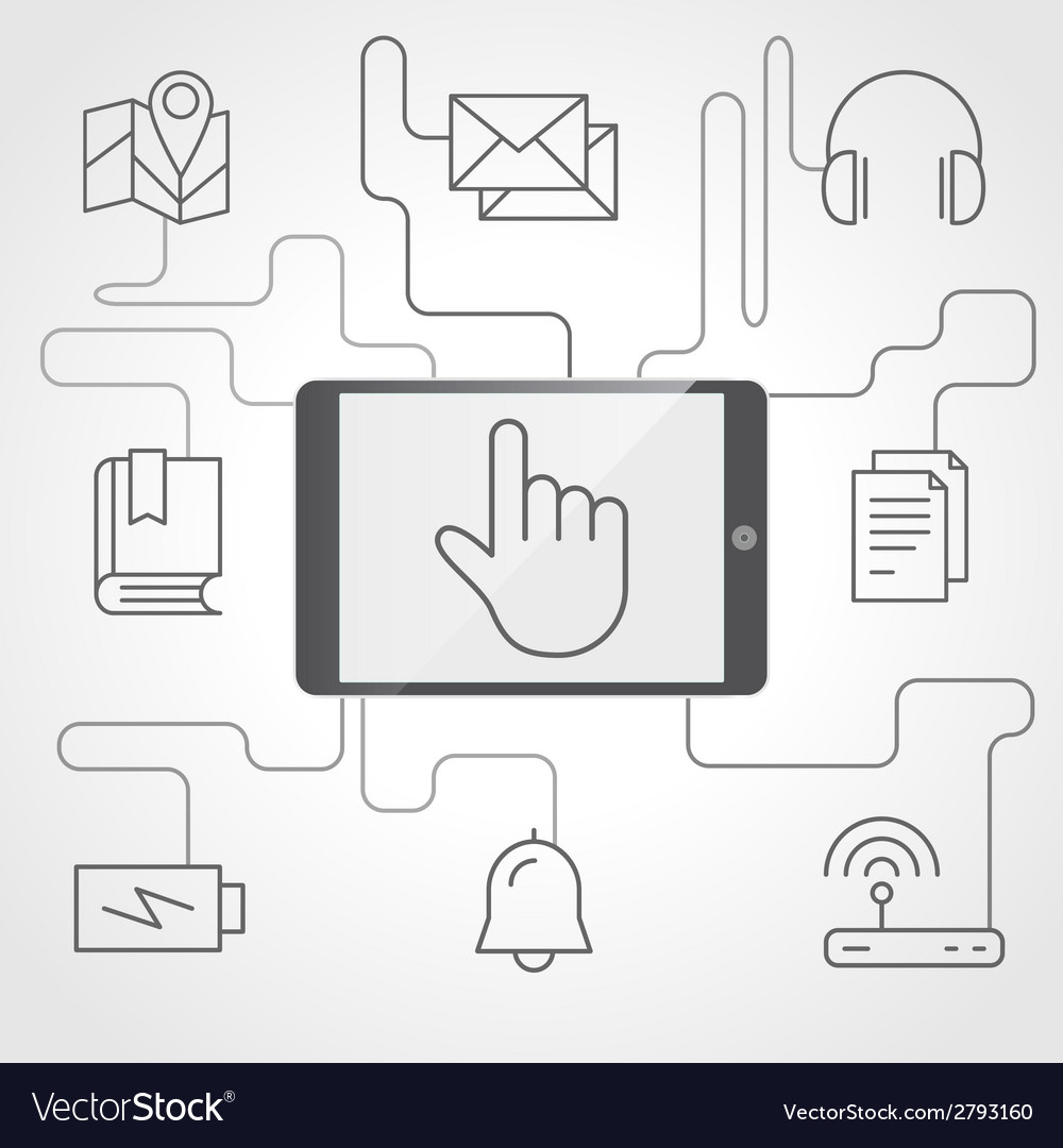 Application and devices infographics with icons vector | Price: 1 Credit (USD $1)