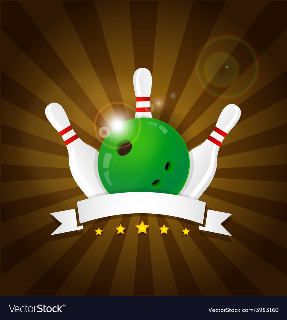 Bowling ball with skittles vector | Price: 1 Credit (USD $1)