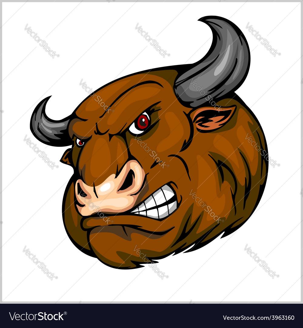 Bull head mascot - for sport vector | Price: 1 Credit (USD $1)