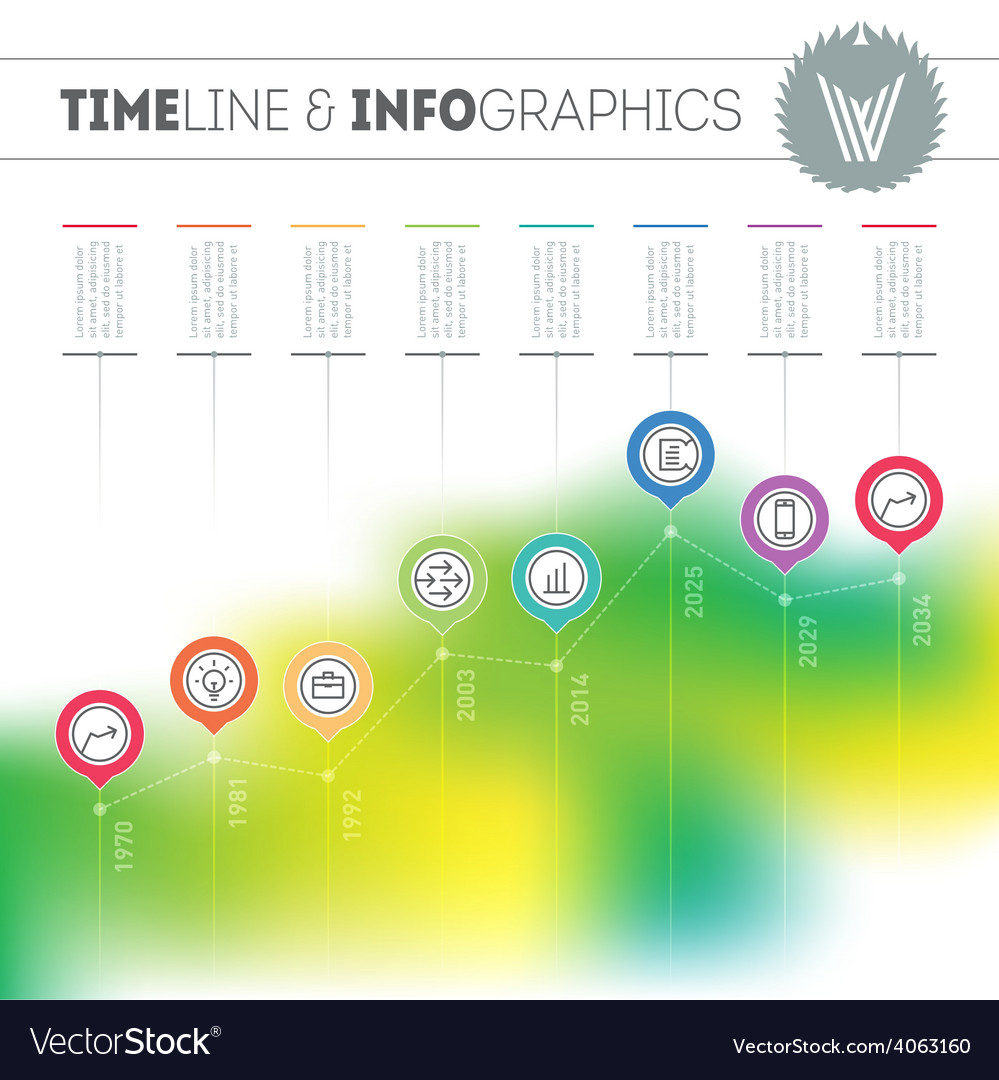 Business chart graph of increase infographics with vector | Price: 1 Credit (USD $1)