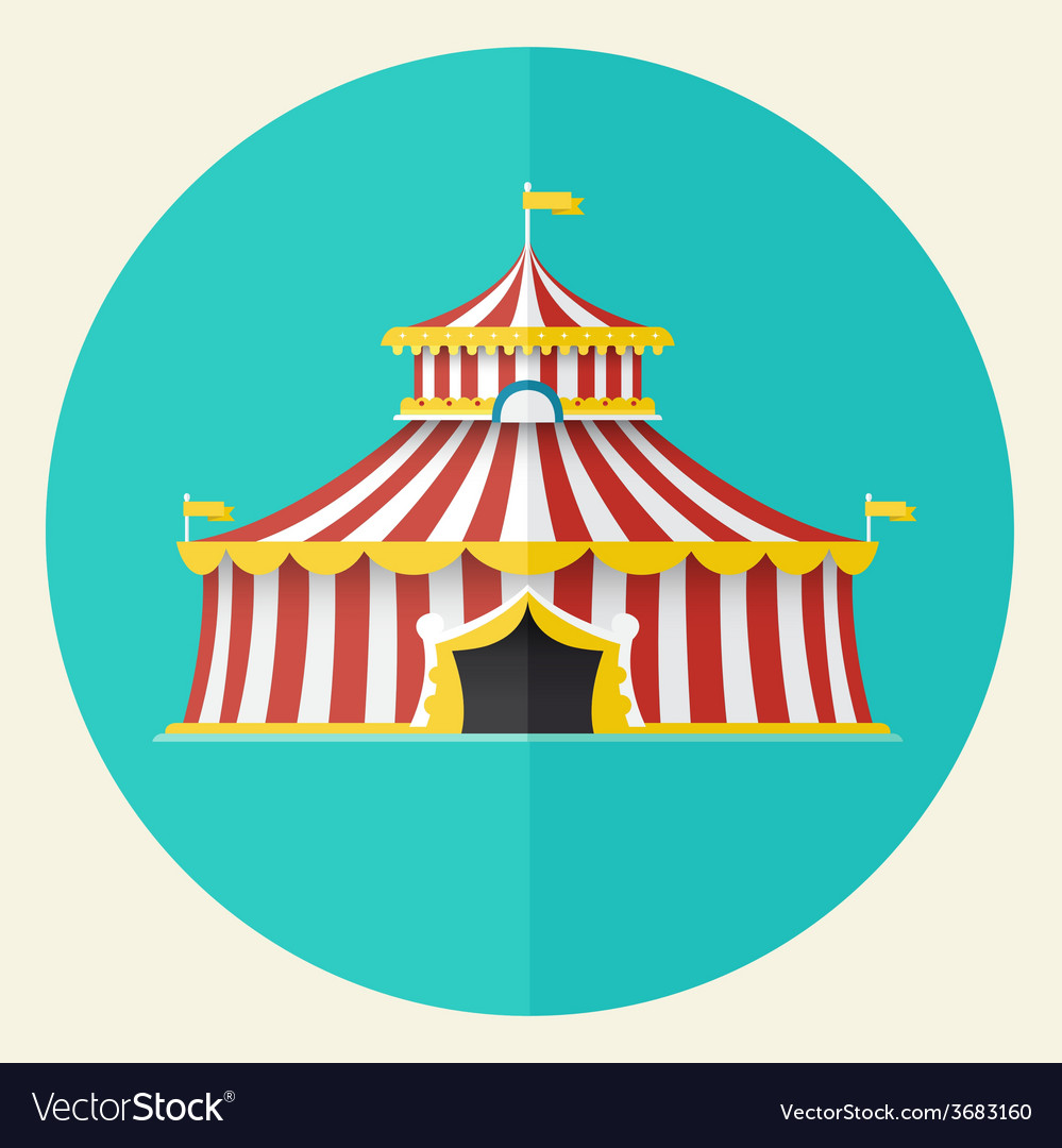 Classical circus tent icon design vector | Price: 1 Credit (USD $1)