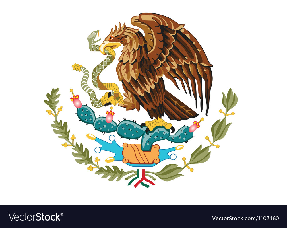 Coat of arms of mexico vector | Price: 1 Credit (USD $1)