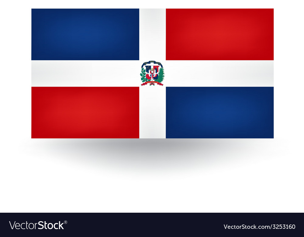 Dominican republic flag vector | Price: 1 Credit (USD $1)