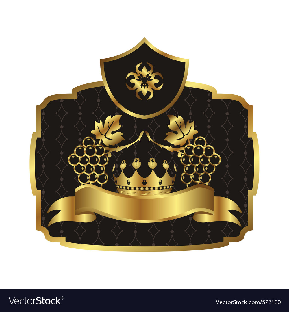 Gold label vector | Price: 1 Credit (USD $1)