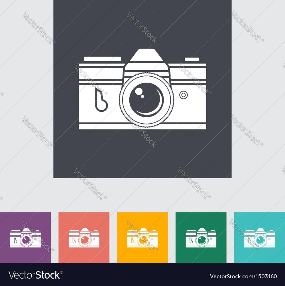 Icon vintage camera vector | Price: 1 Credit (USD $1)