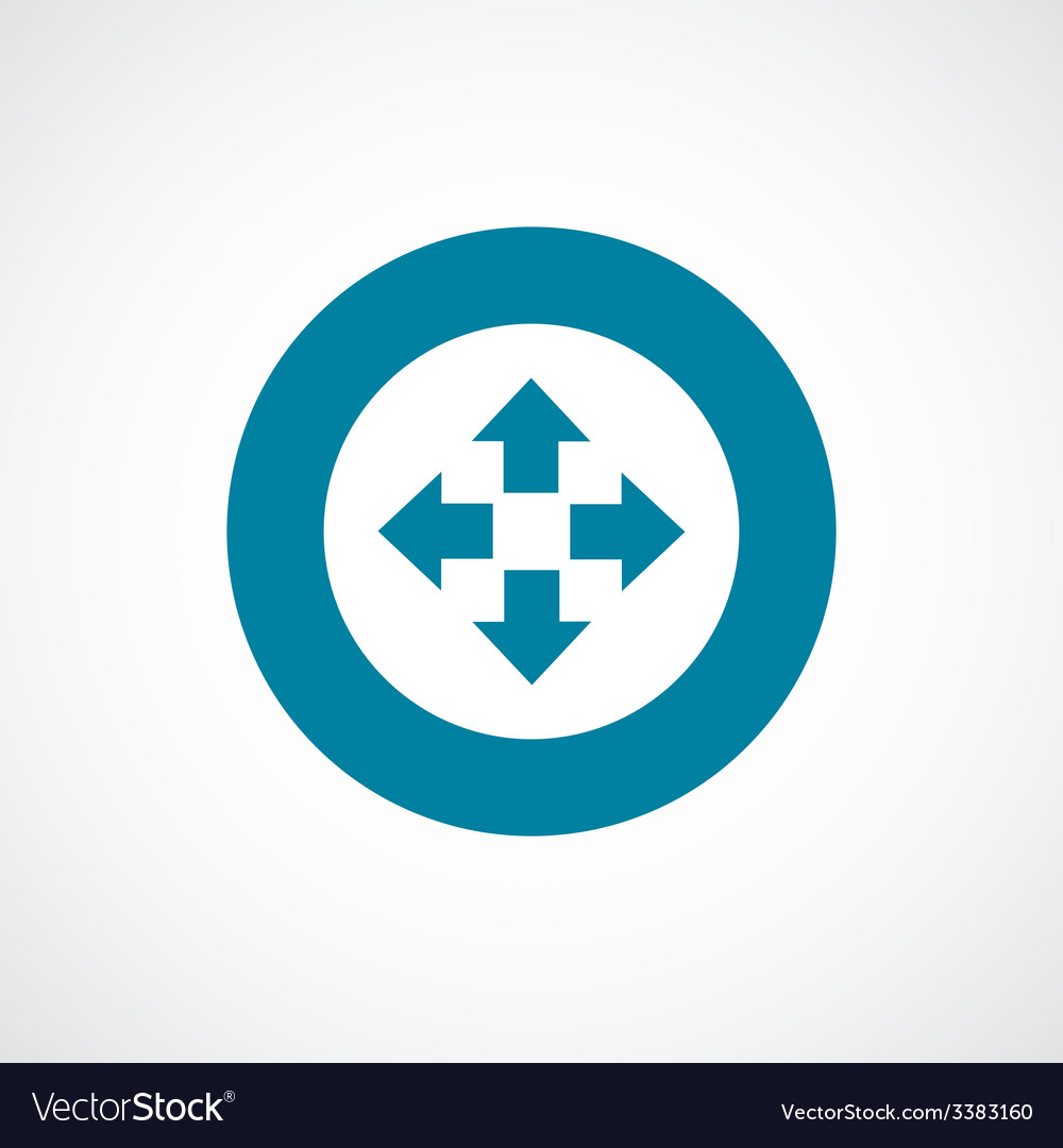 Move bold blue border circle icon vector | Price: 1 Credit (USD $1)
