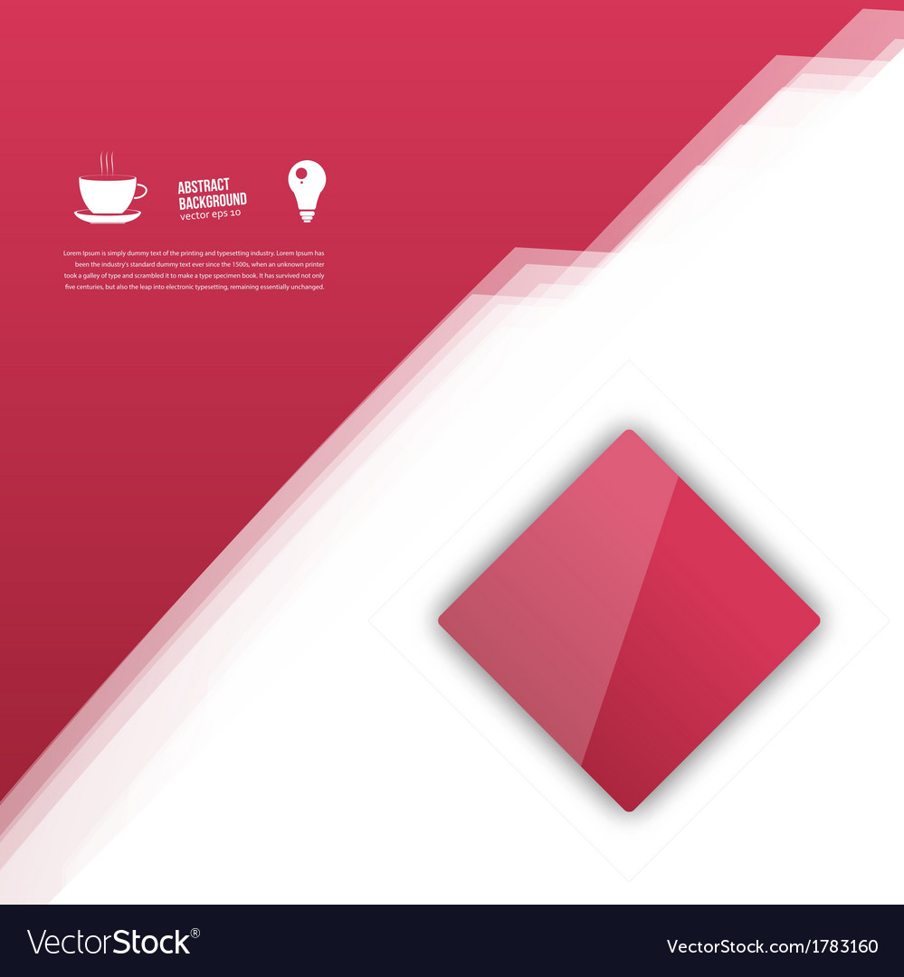 Red squares abstract background vector | Price: 1 Credit (USD $1)