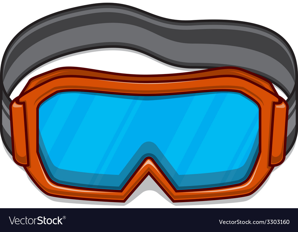 Snowboard ski goggles vector | Price: 1 Credit (USD $1)