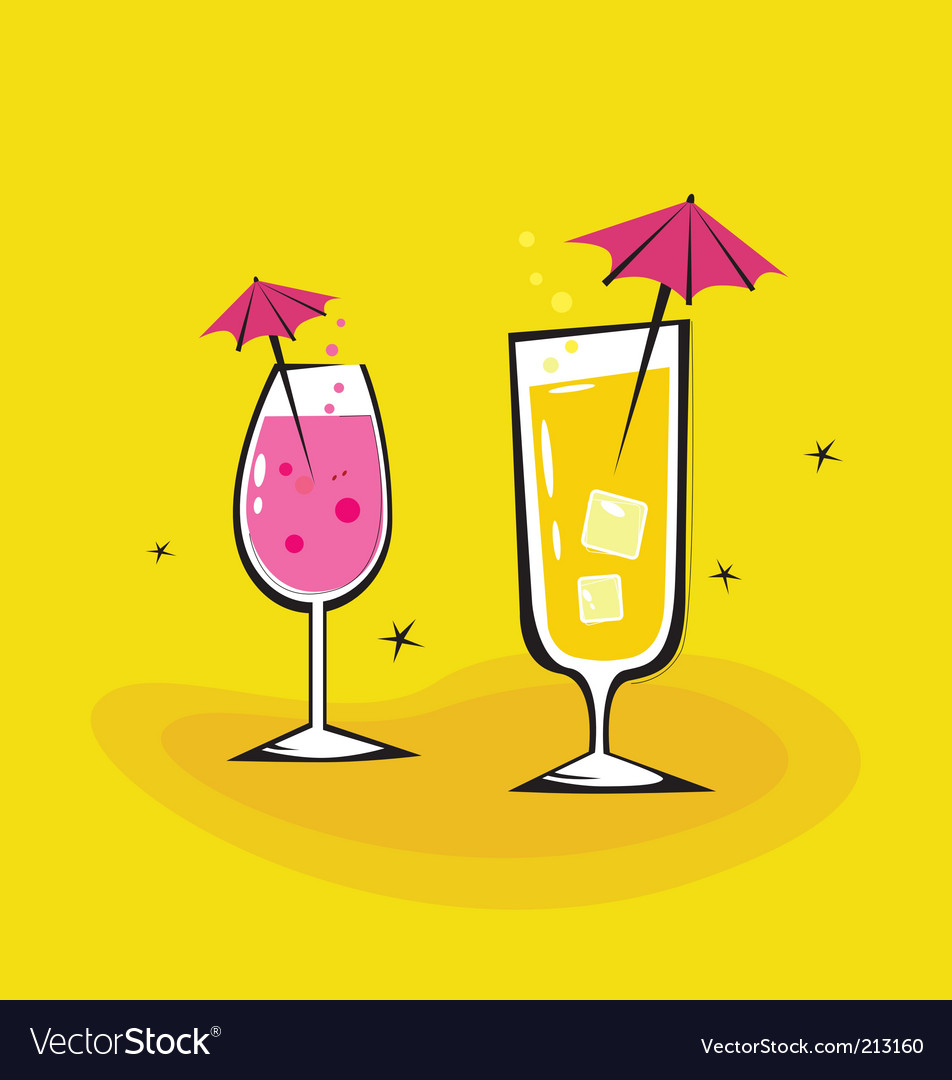 Summer cocktails background vector | Price: 1 Credit (USD $1)