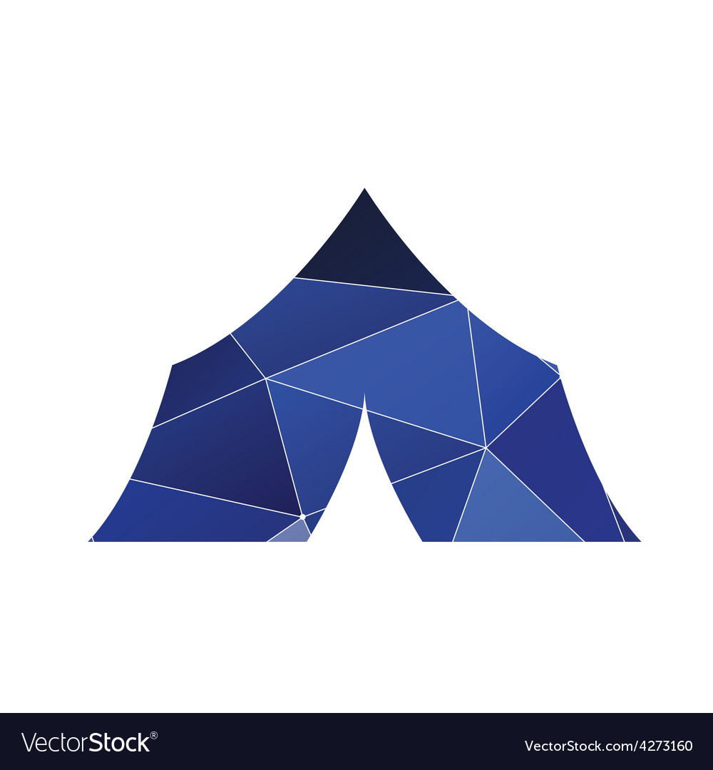 Tent boat icon abstract triangle vector | Price: 1 Credit (USD $1)
