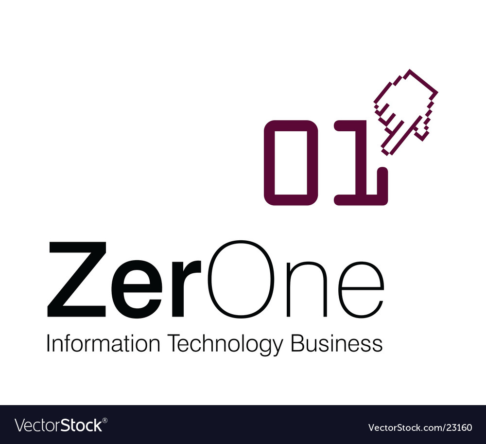 Zero one business vector | Price: 1 Credit (USD $1)