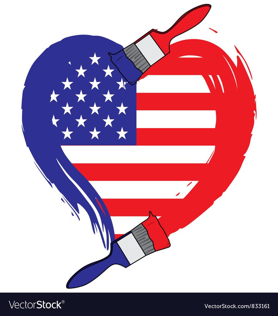 America grunge flag vector | Price: 1 Credit (USD $1)